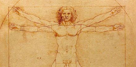 Homme de Vitruve de Leonardo da Vinci